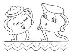 9611 Animated Dishes for Kitchen Towels Vintage by BlondiesSpot