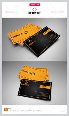 Corporate Business Cards 25  #GraphicRiver        Fully Editable Eps and Ai files CMYK 3,5X2,0 Print Ready Files Horizontal Card  .fontsquirrel /fonts/Quicksand  .fontsquirrel /fonts/bebas-neue     Created: 13September12 GraphicsFilesIncluded: VectorEPS #AIIllustrator Layered: Yes MinimumAdobeCSVersion: CS Tags: black #business #card #corporate #corporatebusinesscards #design #graphic #orange