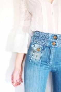 Love the hi waist details