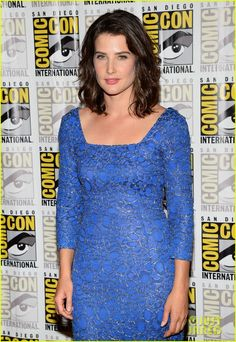 """Cobie Smulders - """"Captain America: The Winter Soldier"""" panel during 2013 Comic-Con, San Diego (July Winter Soldier Funny, Chris Evans Scarlett Johansson, Captain America 2, Samuel Jackson, Emily Vancamp, Anthony Mackie, Cobie Smulders, Red Carpet Event, Just Jared"""