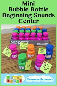 HeidiSongs: Mini Bubble Bottle Beginning Sounds Center pin