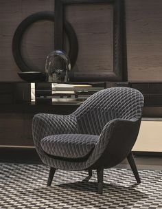 Marcel Wanders for Poliform Gibson velvet and wood Mad Queen armchair, €2,696