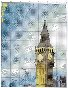Cross Stitch World: Cross Stitch: NIGHT LONDON