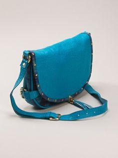Bolsinha azul texturizada