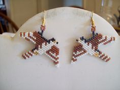Native American Design Beaded Falcon in by BeadedCreationsetc