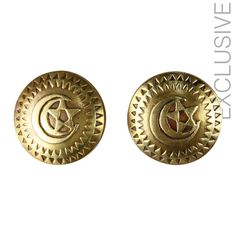 Owning this item will not just make you feel very exclusive but also feel good that you are creating jobs and preserving such wonderful skills     Handmade     Material: brass    Weight per half: 15 grams    diameter: 3.5 cm  $25