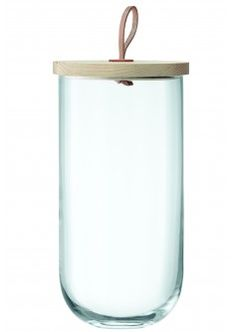 Tall Glass Container with Lid