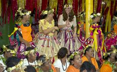 William and Kate South East Asia Tour: Kate dances during welcome ceremony in Tuvalu