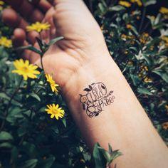Wild and free temporary tattoo