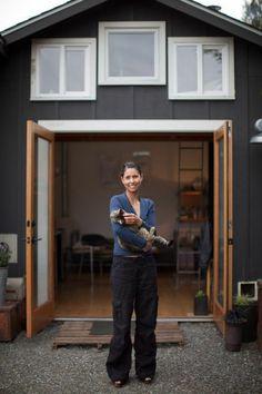 klein aber fein in diesem pultdach gartenhaus befindet sich ein gem tlicher wohnraum dann. Black Bedroom Furniture Sets. Home Design Ideas