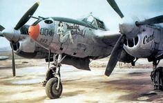 393rd Fighter Squadron Lockheed P-38J Lightning 1945.