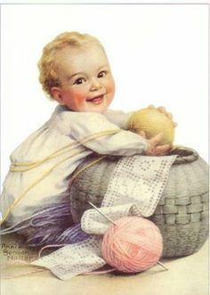I think free image.  From the-feathered-nest.blogspot.com.  lj  My thoughts are filled with baby ~