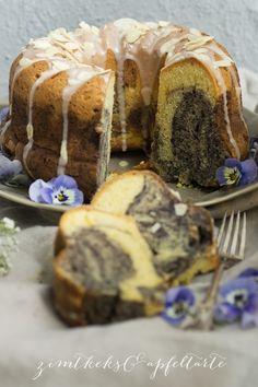 Blaubeer-Marmorkuchen - Zimtkeks und Apfeltarte