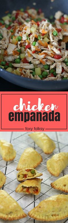 This Filipino Chicken Empanada is packed with flavorful filling and baked in a mildly sweet dough that has a slightly flaky texture.   Chicken Empanada | Foxy Folksy