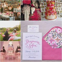 """Las invitaciones de boda """"Kitsch"""" están basadas en ese estilo recargado, colorido y llamativo. Si queréis sorprender a los invitados con vuestras invitaciones, éstas son las apropiadas. #weddinginvitations #invitacionesdeboda #invitacion #boda #bodas2015 #spain #kitsch #pink #print"""