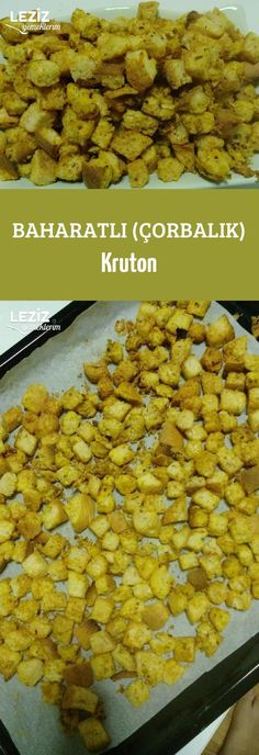 Spicy (Soup) Croutons - My Delicious Foods, Boston Baked Beans, Spicy Soup, Soup Appetizers, Quick Easy Dinner, Vegetable Drinks, Turkish Recipes, Healthy Eating Tips, Carne, Easy Meals