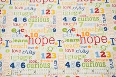 Words on White - Pieces Of Hope - Riley Blake - Quilting Cottons - 1/4 metre