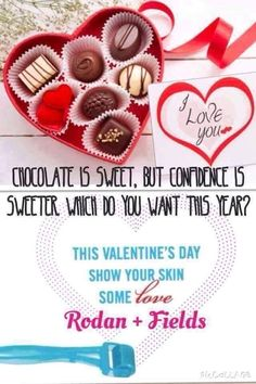 Ask yourself this....What if instead of a chocolates and roses for Valentine's Day, you got yourself or loved one the ability to own a business?! Wouldn't you rather your gift be an investment into your future together? How amazing to have your gift turn into residual income (rather than wilted or eaten)! Don't forget the best skin you've ever had! Rodan + Fields has been so much fun and inspiring thanks to my amazingly supportive team! Interested? Message me! :) Lets chat! Da1130@gmail.com