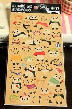 Japanese Craft Paper Sticker Seal - panda