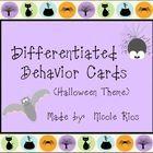 Differentiated Behavior Cards - Halloween Theme