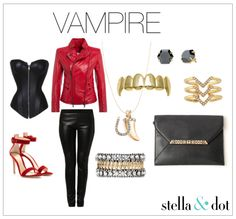 This Vampire inspired Halloween costume by Stella & Dot Shop The Collection Now at http://www.stelladot.com/denikaclay