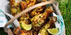 Green curry chicken drumsticks Give the ultimate picnic food a Thai twist by serving up these spicy-coated chicken legs at your next barbecue or picnic, they're sure to be a hit. This healthy Slimming World recipe lets you enjoy cla Best Bbq Recipes, Healthy Recipes, Uk Recipes, Favorite Recipes, Savoury Recipes, Barbecue Recipes, Skinny Recipes, Savoury Dishes, Finger Food