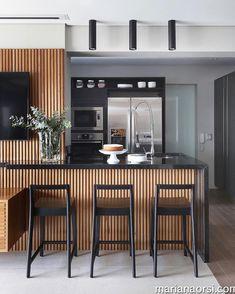 Super ideas for modern kitchen storage woods Industrial Style Kitchen, Modern Kitchen Design, Interior Design Kitchen, Kitchen Contemporary, Home Decor Kitchen, New Kitchen, Home Kitchens, Küchen Design, House Design