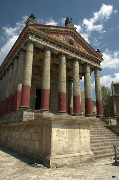 The temple of Jupiter. set design from the HBO series. Rome.