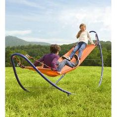 Our rockin' good-time kids' hammock offers ample room for one—or two—kid(s) to rock up and down! It's far more fun than an ordinary hammock, for Outdoor Toys For Kids, Outdoor Fun, Outdoor Decor, Outdoor Swings, Playhouse Outdoor, Outdoor Games, Outdoor Seating, Hammock Chair Stand, Kids Hammock