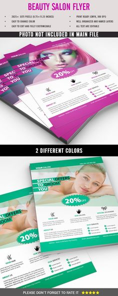 Beauty Salon Flyer  Salons Flyer Template And Flyer Printing
