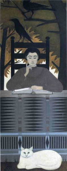 Totem | serigraph, 1982 | Will Barnet via Women and Cats will do as they please...