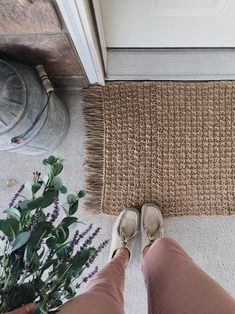 Free Crochet Pattern for a Textured Jute Rug