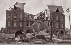 Traces of Texas reader Bob Moore sent in this rather amazing photograph of a damaged building in Galveston after the 1900 hurricane struck. It was taken by his grandmother, who was 16 years old at the time.