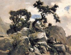 Carlos de Haes ianuarie 1826 – 17 iunie pictor spaniol – G a b i, My heart to your heart Mountain Landscape, Landscape Art, Landscape Paintings, Vancouver Art Gallery, Wooded Landscaping, Russian Painting, Impressionist Artists, Spanish Painters, Environment Concept Art