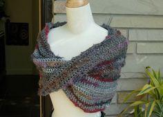 crochet  infinity shoulder wrap   yarn:RedHeart Boutique Magical Yarn
