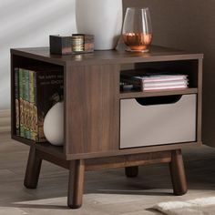 You'll love the Pizarro Mid-Century Modern 1 Drawer Nightstand at Wayfair - Great Deals on all Furniture products with Free Shipping on most stuff, even the big stuff.