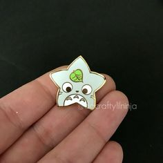 Kawaii Chubby Mouse Lilninja Star Enamel Pin <<< it's not a mouse, it's Totoro Kawaii Accessories, Little Doodles, Hard Enamel Pin, Cool Pins, Metal Pins, Pin And Patches, Star Designs, Pin Badges, Lapel Pins
