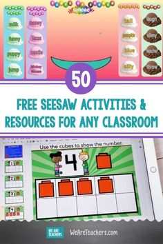 50 Free Seesaw Activities and Resources For Every Kind of Classroom. Up your virtual classroom game with these Seesaw activities and ideas. Learn how other teachers use this tool in their own classrooms. Kids Moves, Classroom Games, Cvc Words, Seesaw, Free Activities, Teaching Kindergarten, What Is Life About, Science Experiments, Fun Learning