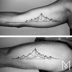 Love this #mountain #tattoo - MoGanji tatuajes | Spanish tatuajes |tatuajes para mujere...