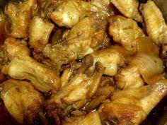 """Alitas de pollo """"teriyaki"""" en olla de presión Receta de kuronekomilk - Cookpad"""