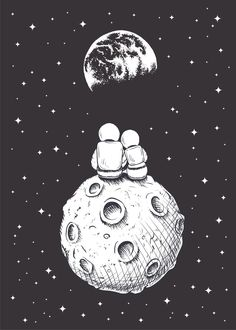 Space Drawings, Space Artwork, Wallpaper Space, Galaxy Wallpaper, Art Drawings, Astronaut Drawing, Astronaut Cartoon, Astronaut Wallpaper, Moon Drawing