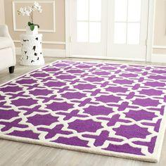 Safavieh Handmade Moroccan Cambridge Purple Wool Rug (4' x 6')