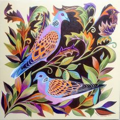 Two turtle doves from www.janetomlinson.com/product/two-turtle-doves/