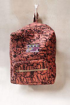 Batik Beaded Backpack