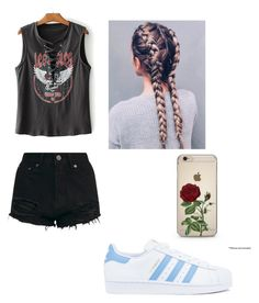 """""""And outfit that can make anyone look like a soon to be rockstar!"""" by sloanesmile on Polyvore featuring adidas"""