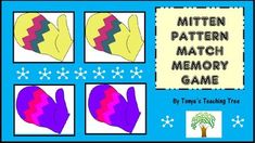 Mitten Pattern Match Memory Game