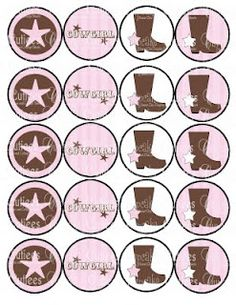 Printables Horse Birthday Parties, Cowgirl Birthday, Cowgirl Party, Cowgirl Boot, Birthday Ideas, Birthday Stuff, 8th Birthday, Happy Birthday, Bottle Cap Images