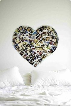 Love. A photo gallery shaped into a heart.