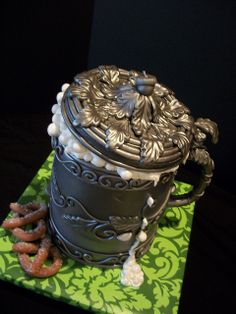 German beer stein cake-By The Mad Platters