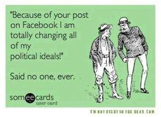Politics on Facebook | What Jacq did next